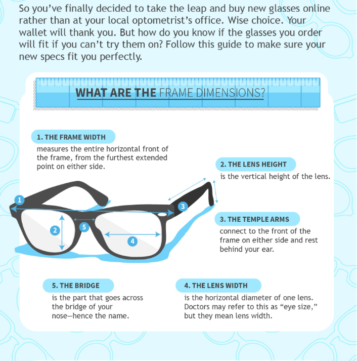 A Helpful Guide to Measuring Frames and Glasses When Buying Online ...