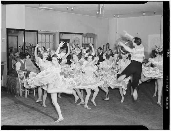 1940s Chorus Girls Rehearsing
