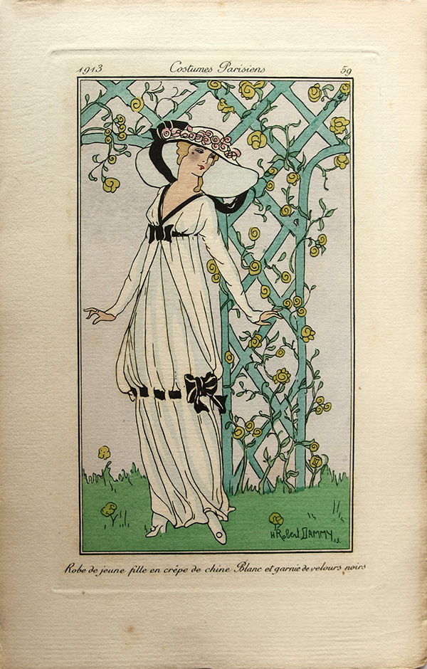 Directoire style dress from 1913
