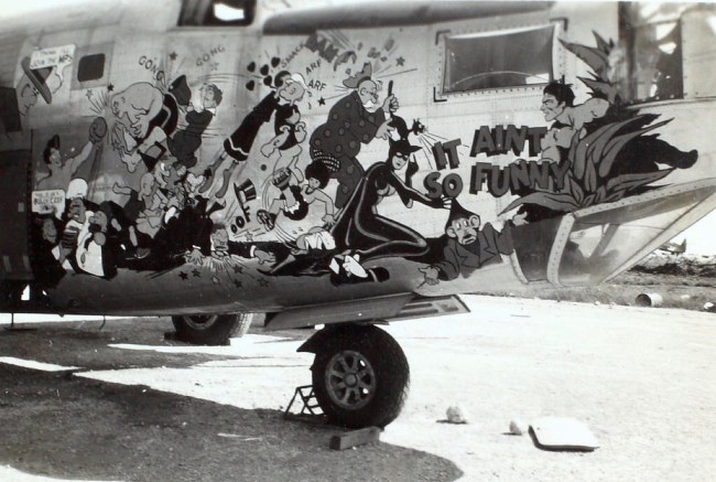 1940s comic character nose art