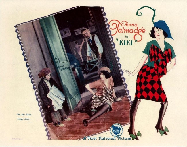 Lobby card from the 1926 film Kiki with Norma Talmadge.