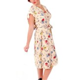 Vintage Rayon Printed Dress 1940s Larry Aldrich