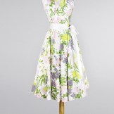 1950 Floral Cotton Halter Vintage Day Dress