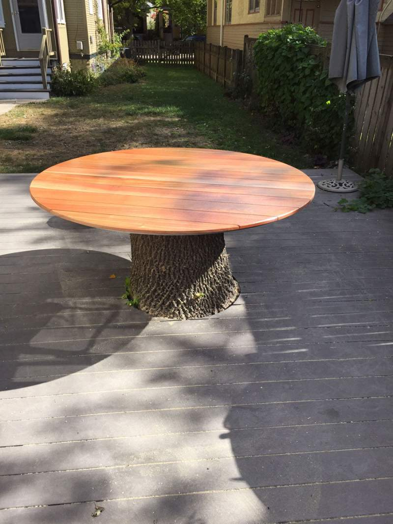 Large Of Tree Stump Table