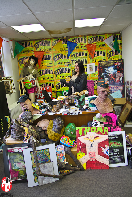 Lloyd's desk is rumored to be buried beneath a treasure house of Troma memorabilia