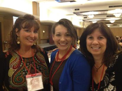 Becky, Rachel, and their editor from Zondervan at IFBC.