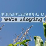 5 Things People Said When We Told Them We're Adopting
