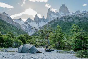 camperen bij Fitz Roy with a Hilleberg Nallo 3GT