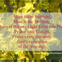 Morning Has Broken-Inspirational Poetry in Five