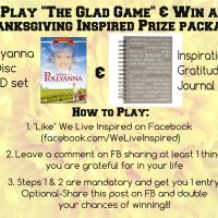 The Glad Game-A Thanksgiving Gift Giveaway!