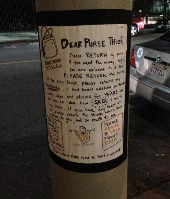 dear purse thief