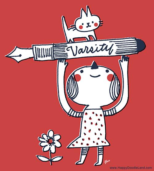 Flora Happy Varsity Pen