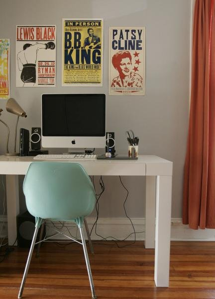 Nate Lewis's North Kansas City home office. Photo by Jennifer Hack/Ink)