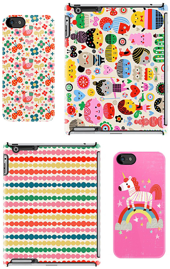 Flora Chang has released some of her whimsical designs as exclusive covers fr iPhone 5 and iPads through Redbubble