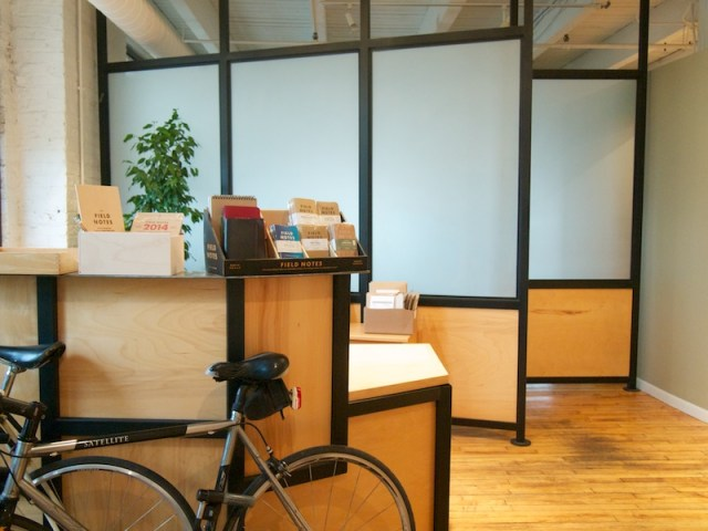 Coudal/Field Notes front desk and sales counter