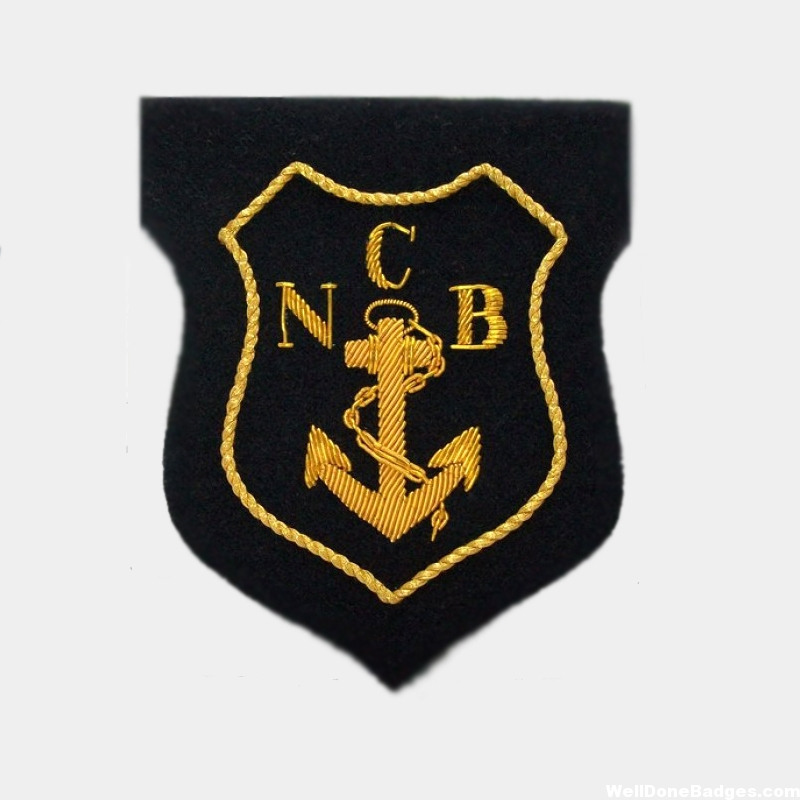 N C B Gold Bullion Anchor Blazer Badge