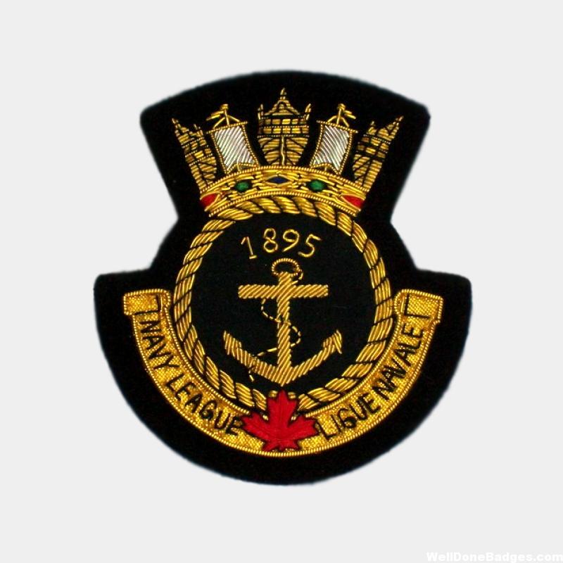 Navy League Bullion blazer patches