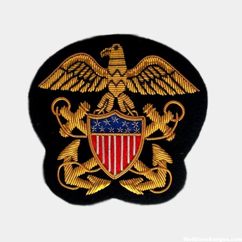 Us Navy Bullion Wire Blazer patches
