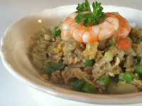 shrimp fried cauliflower rice healthy