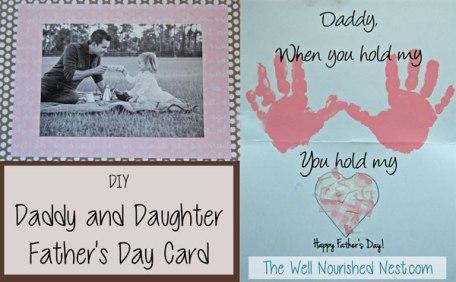 DIY Father's Day card craft! Wellnourishednest.com