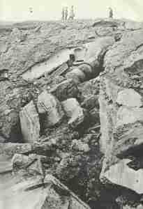 Trümmer eines Sperrforts von Namur