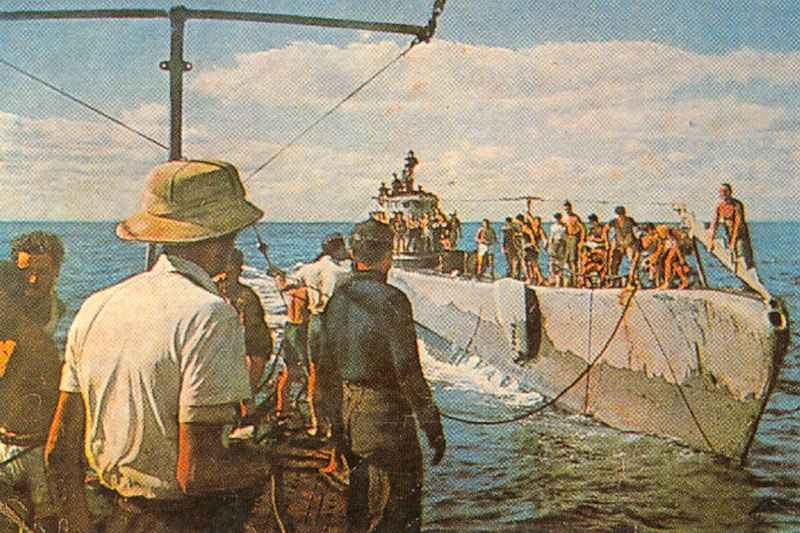U-Boot Typ IX – deutsches Hochsee-Unterseeboot 2. Weltkrieg.