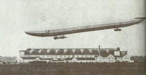 Start eines Zeppelins.