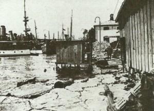 Hafenpromenade in Konstantinopel