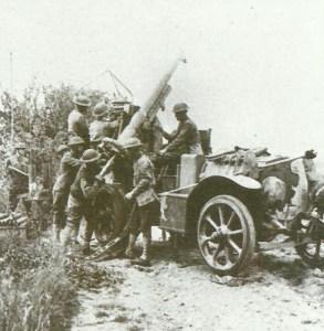 75-mm M1897 als mobiles Fla-Geschütz