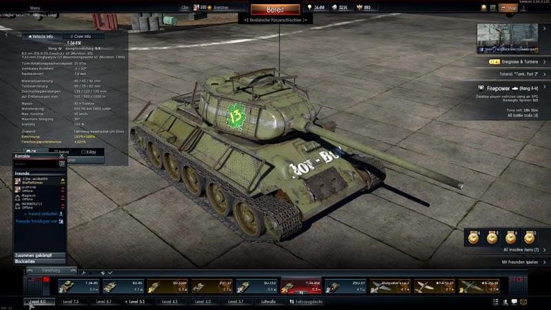 T-34-85 in War Thunder