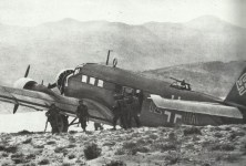 Ju 52 in Maleme gelandet