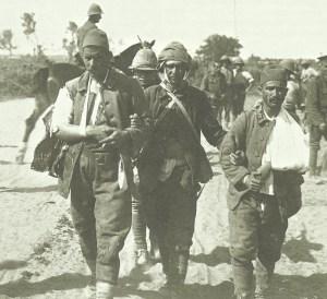 Drei verwundete Türken Sinai