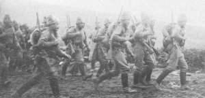 Russische Infanterie in Makedonien