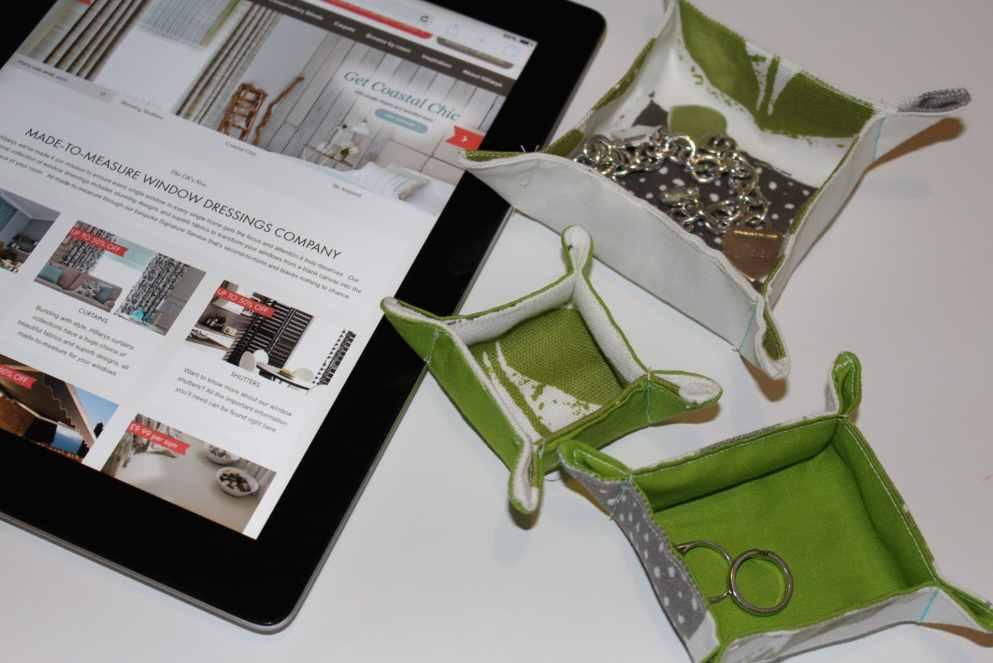 fabric tray tutorial