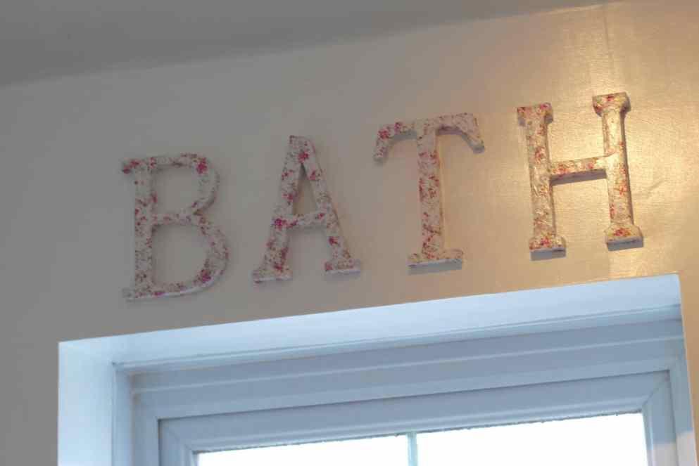 decoupage bath letters