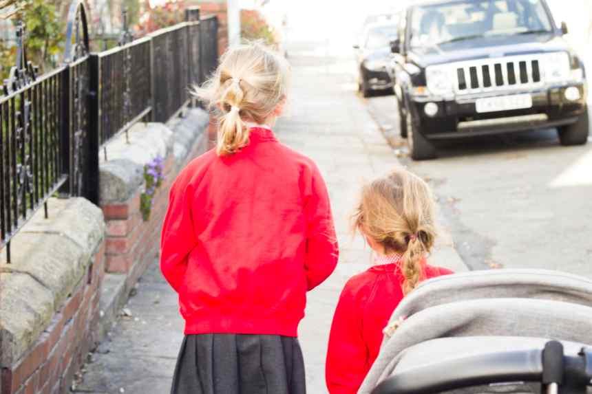 walking to school