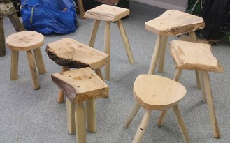 A beautiful bevvy of finished stools