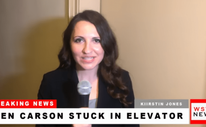 Breaking News: Ben Carson Stuck in Elevator (Video)