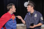 The Brick Wall: Superman Skit Pavlovian Dog Show (Video)