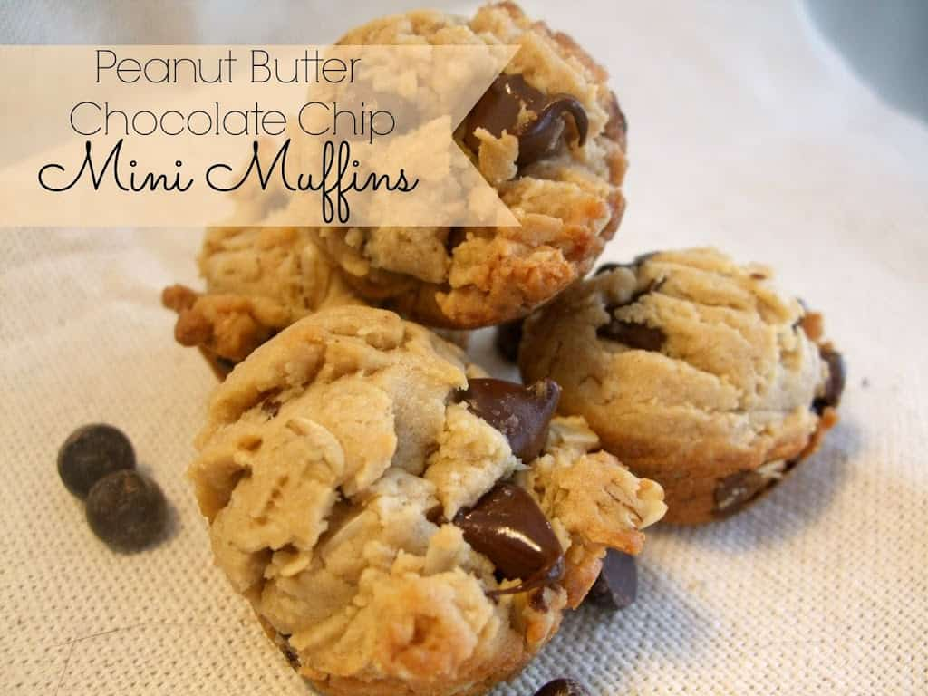 Peanut Butter Chocolate Chip Mini Muffins