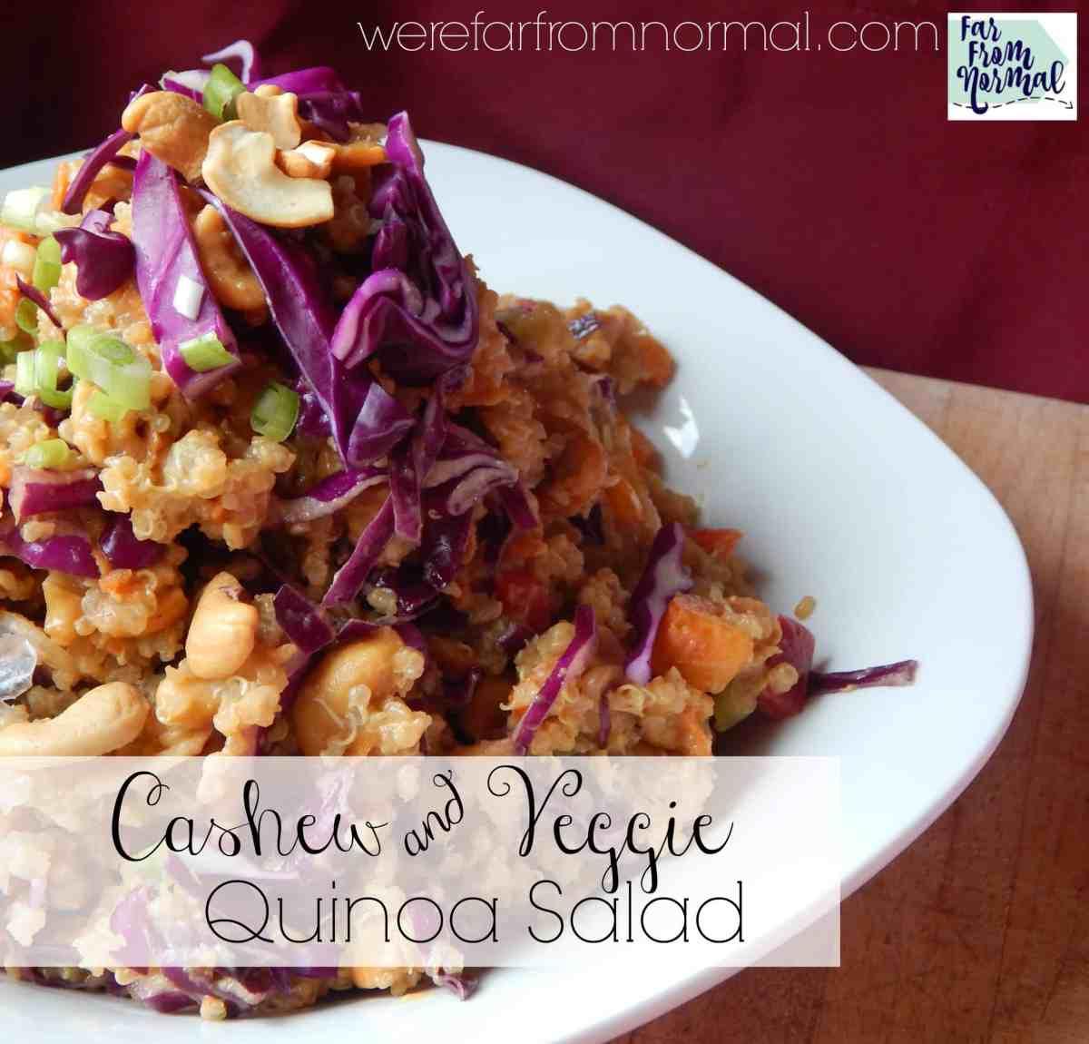Quinoa Cashew & Veggie Salad