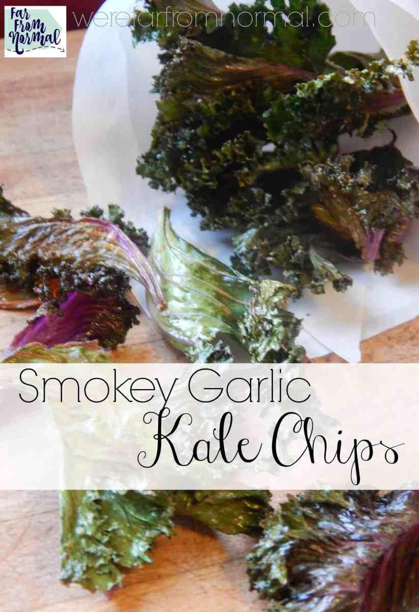 Smoky Garlic Kale Chips