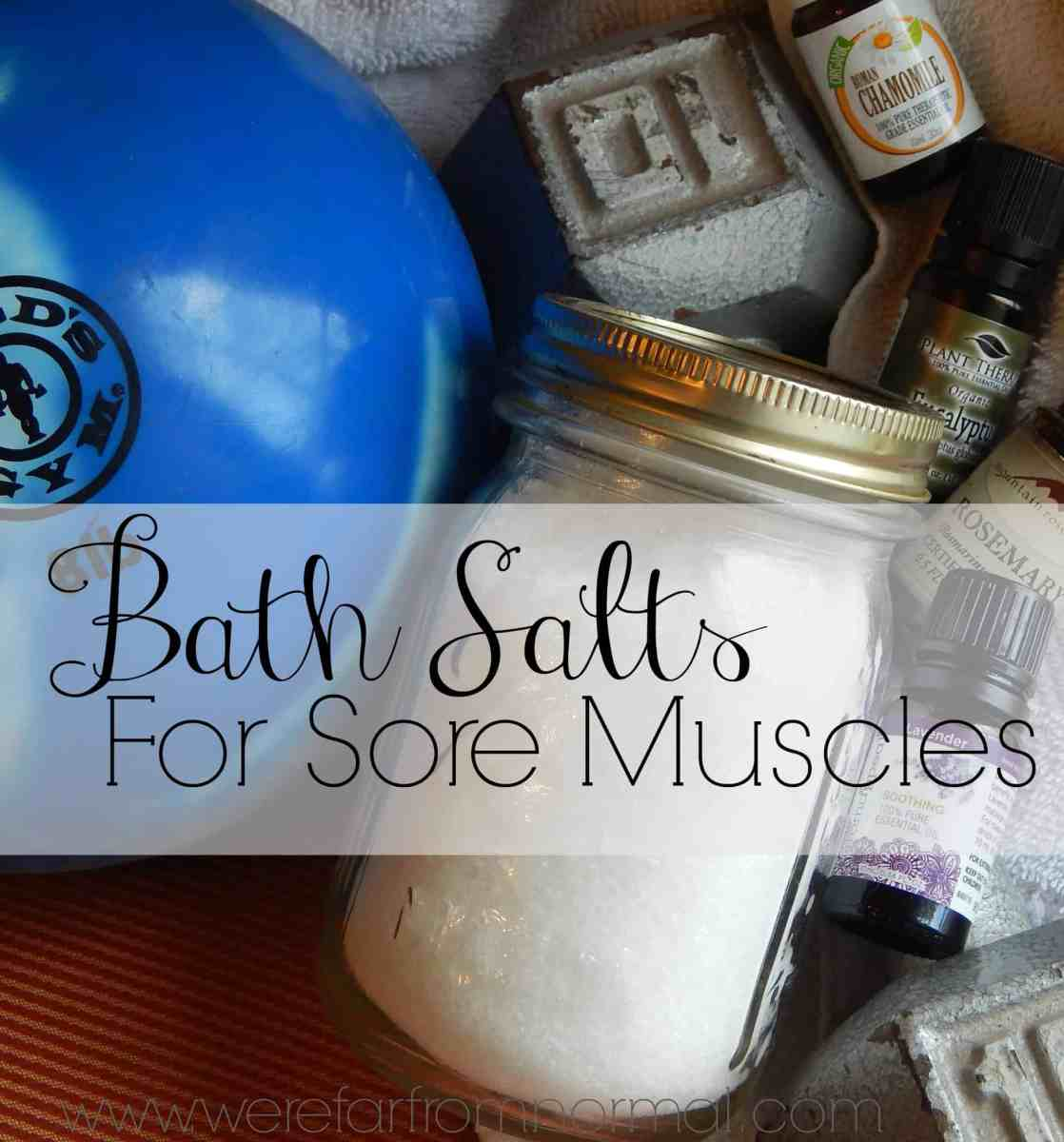 Bath Salt Recipe for Sore Muscles