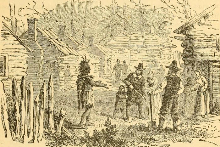 Pilgrims And Indians Two First Encounters We Re History