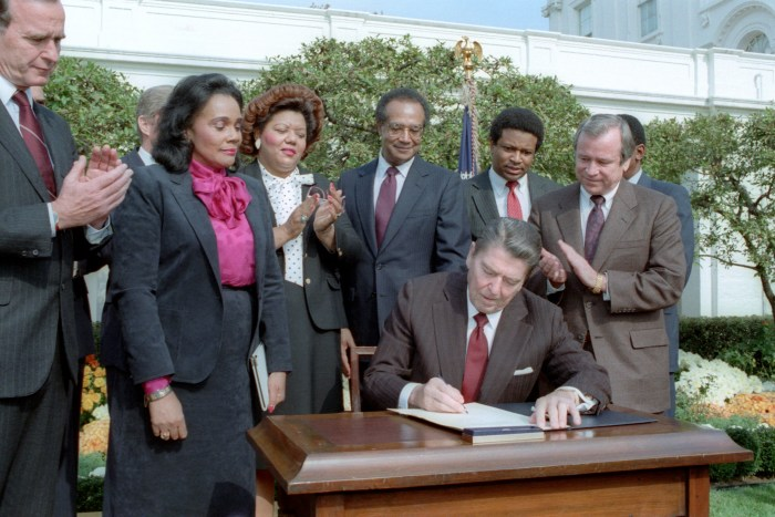 Signing Ceremony for Martin Luther King Holiday Legislation
