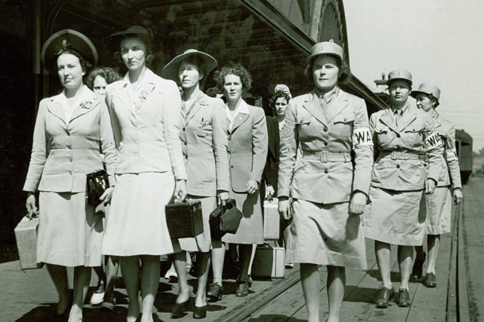 Newly arrived Women's Army Auxiliary Corps recruits