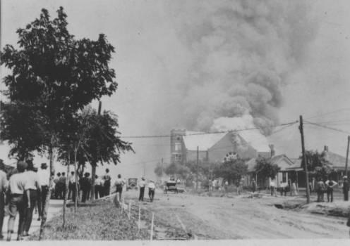 Onlookers Watching The Destruction Of Mount Zion Baptist Church