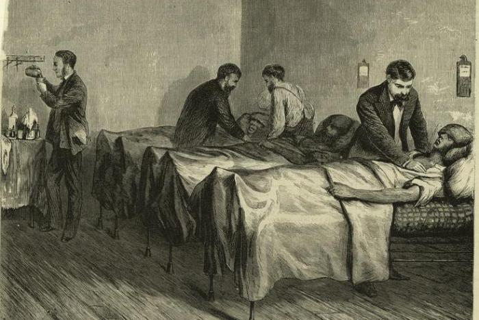 Patients at The Centre Street Hospital