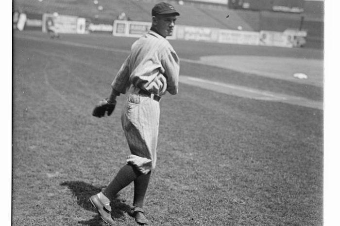 Ray Chapman on the Field