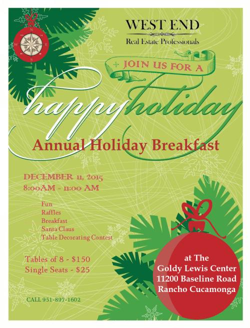 2015 Holiday Breakfast Flyer